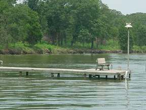 boat dock on Cedar Creek Lake